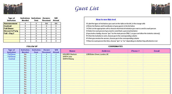 wedding guest list - criasite.tk